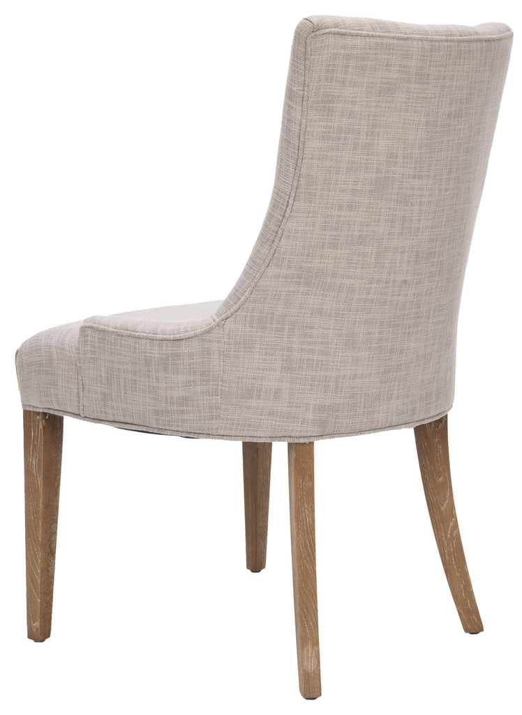 "Safavieh Becca Dining Chair 20""H Linen Grey White Wash Wood Oil Based Paint Birch CA Foam Polyester Fiber Viscose MCR4502L 683726426721"