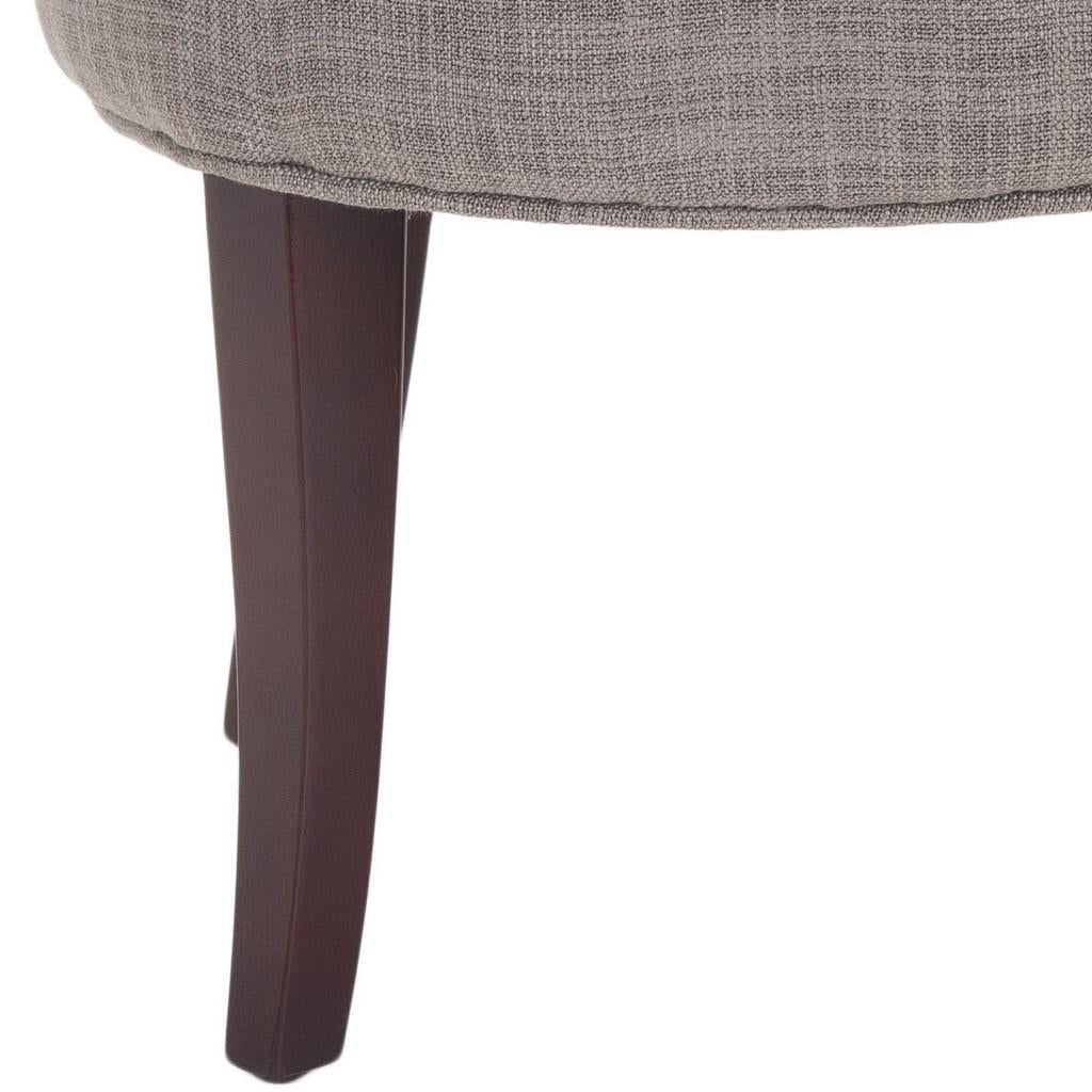 Safavieh Georgia Vanity Stool Stone Cherry Mahogany Wood Water Based Paint Birch CA Foam Polyester Fiber Viscose MCR4546D 683726398301