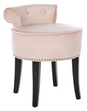 Safavieh Georgia Vanity Stool Blush Mercer MCR4546K 889048658301