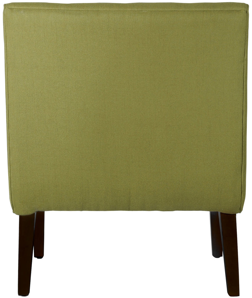 Safavieh Mandell Chair Buttons Sweet Pea Green Black Wood Water Based Paint Birch CA Foam Polyester Fiber Linen Cotton Synthetic MCR4552C 683726444220