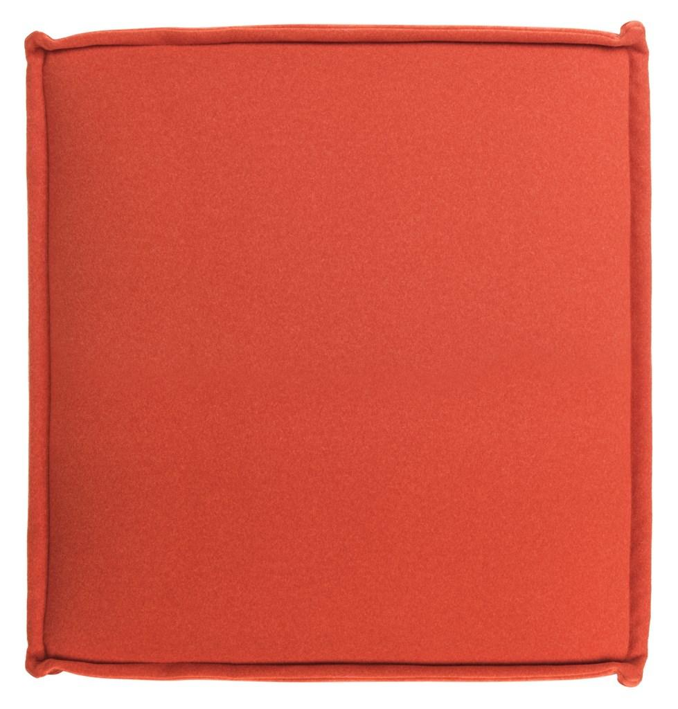 Safavieh Elaine Ottoman Burnt Orange Plywood Poly Wool MCR4667A 683726392156