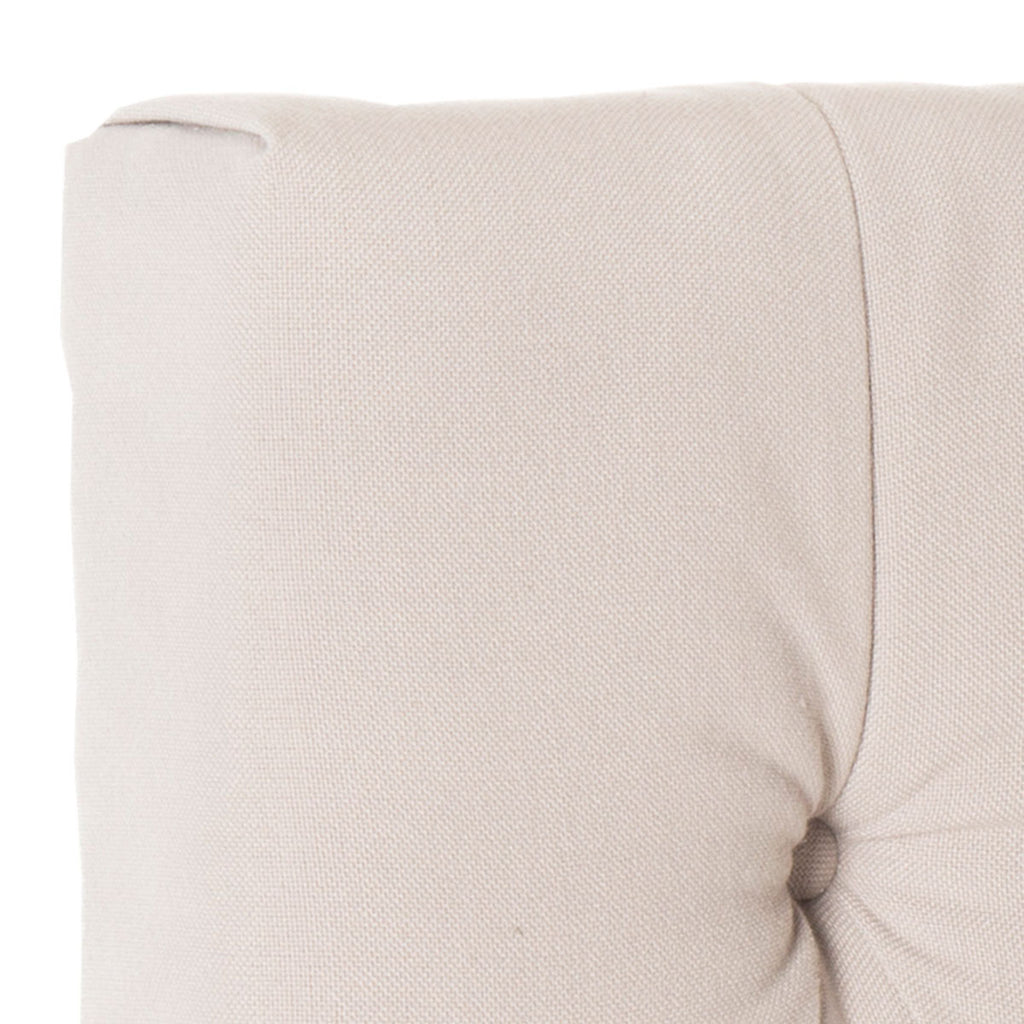 Safavieh Axel Headboard Full Tufted Taupe Metal with Buttons Plywood Linen Foam Iron MCR4681B 683726207665