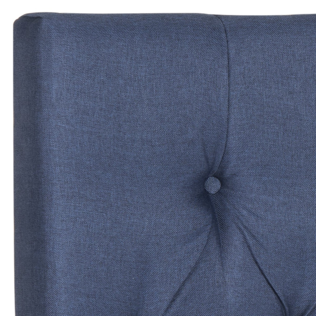 Safavieh Axel Headboard Full Tufted Navy Metal with Buttons Plywood Linen Foam Iron MCR4681F-F 889048146587