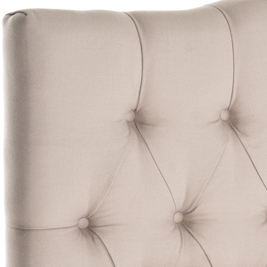 Safavieh Axel Headboard Queen Tufted Taupe Metal with Buttons Plywood Linen Foam Iron MCR4682B 683726207702