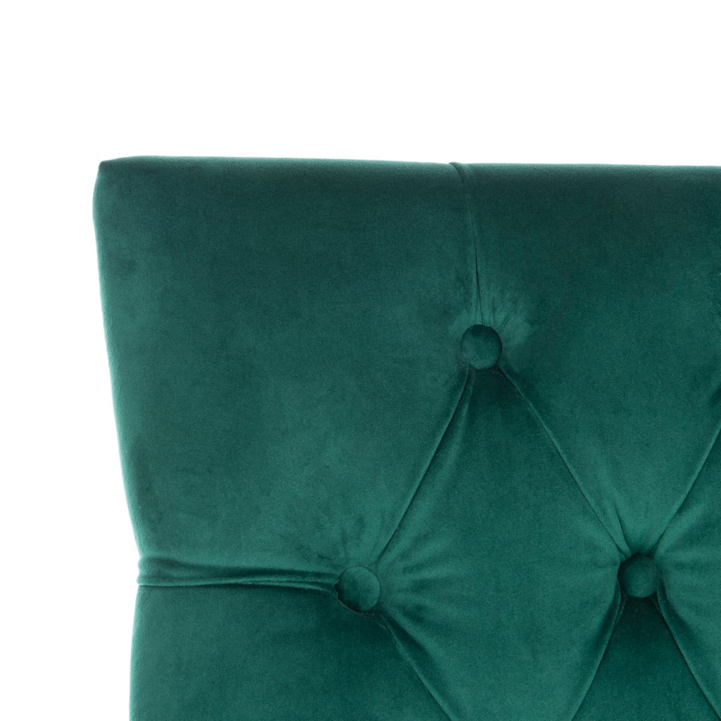 Safavieh - Set of 2 - Harlow Ring Chair Emerald Mercer MCR4716G-SET2 889048656970