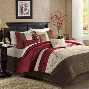 Serene Embroidered 7 Piece Comforter Set