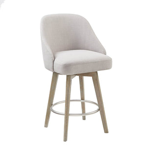 Pearce Counter Stool With Swivel Seat in Grey