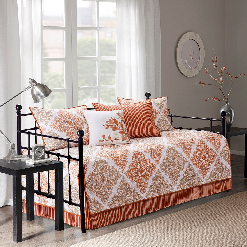Claire 6 Piece Reversible Daybed Cover Set Daybed in Spice