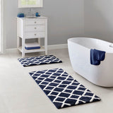 Bittman Reversible High Pile Tufted Microfiber Bath Rug 24x60""