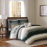Saben Complete Comforter and Cotton Sheet Set Cal King in Taupe