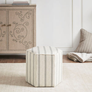 Ellen Accent Ottoman in Natural Farm House Olliix