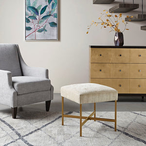 Markus Accent Ottoman in Cream Glam/Luxury Olliix