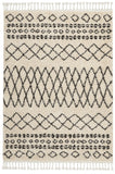 "Moroccan Shag MRS02 Power-loomed 100% Polypropylene Cream 5'3"" x 7'11"" Rectangle Rug"