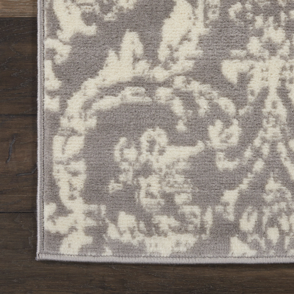 Jubilant JUB09 Power Loomed 100% Polypropylene Grey 2' x 4' Rectangle Rug