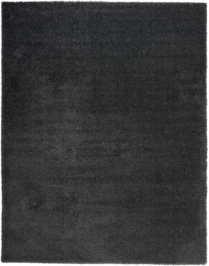 Malibu Shag MSG01 Power Loomed 100% Polypropylene Dark Grey 9' x 12' Rectangle Rug