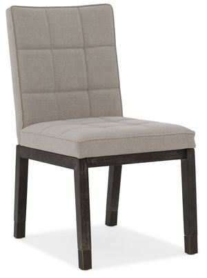 Hooker Furniture - Set of 2 - Miramar - Aventura Transitional Miramar Aventura Cupertino Upholstered Side Chair in Oak Solids and Fabric 6202-75410-DKW