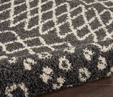 "Moroccan Shag MRS02 Power Loomed 100% Polypropylene Charcoal 2'2"" x 8'1"" Runner Rug"