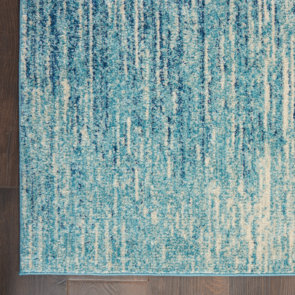 "Passion PSN09 Power Loomed 100% Polypropylene Navy/Light Blue 6'7"" x 9'6"" Rectangle Rug"