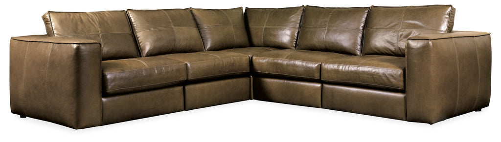 Solace Leather Stationary Sectional