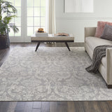 Jubilant JUB09 Power-loomed 100% Polypropylene Grey 7' x 10' Rectangle Rug
