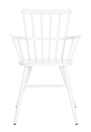 Safavieh Clifton Arm Chair in White PAT3001A-SET2 889048737136
