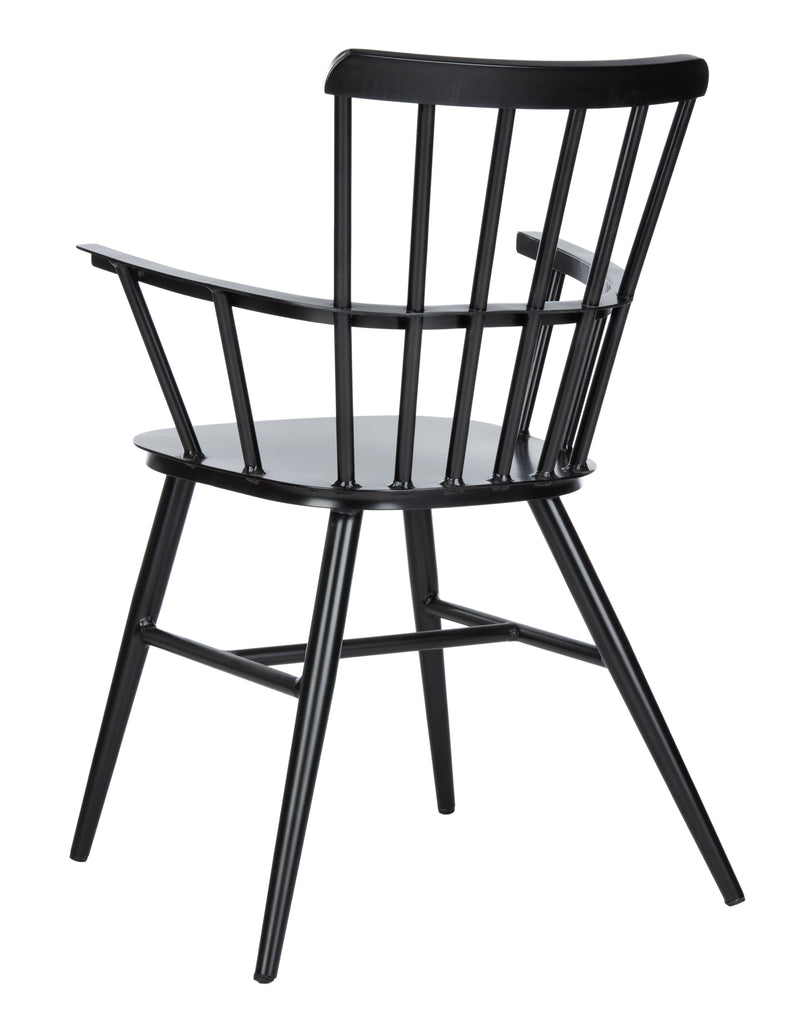 Safavieh Clifton Arm Chair in Black PAT3001B-SET2 889048737143