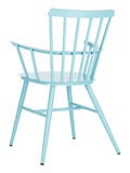 Safavieh Clifton Arm Chair in Blue PAT3001D-SET2 889048737167
