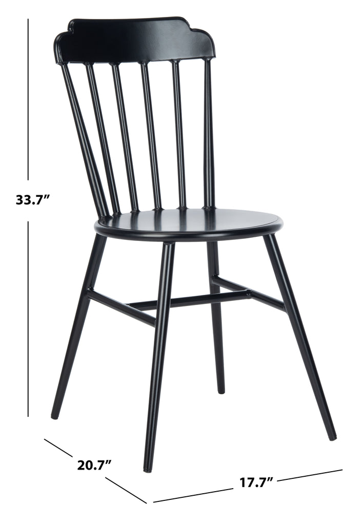 Safavieh Broderick Side Chair in Black PAT3004B-SET2 889048737297