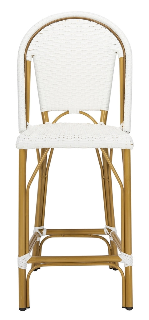 Safavieh Gresley Indoor-Outdoor French Bistro Counter Stool In White PAT4019C
