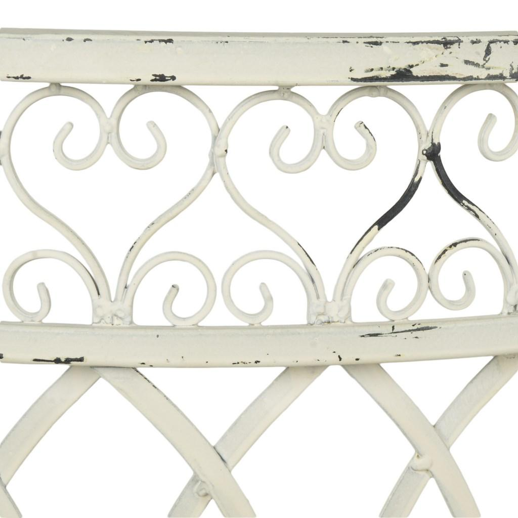 Safavieh Lara Kissing Bench Antique White Metal Iron PAT5005A 889048011588