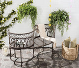 Safavieh Lara Kissing Bench Rustic Brown Metal Iron PAT5005B 889048011595
