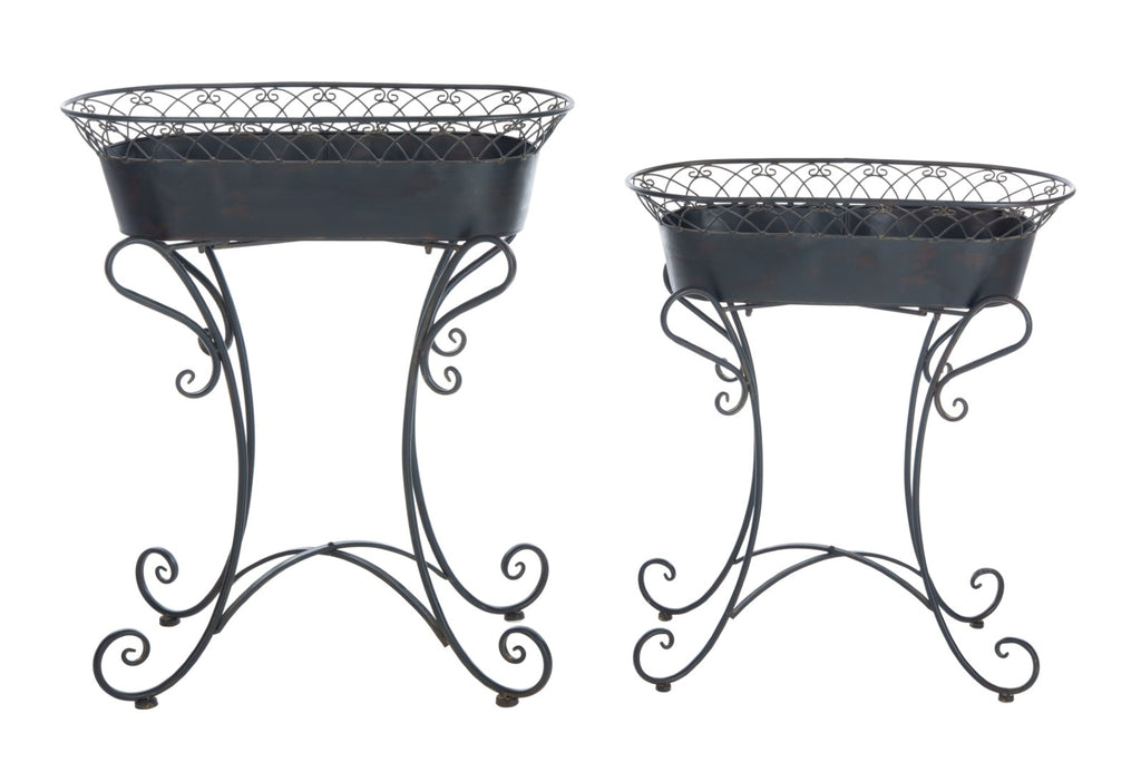 Safavieh Hendrick Planters in Black and Rust PAT5026B 889048765634