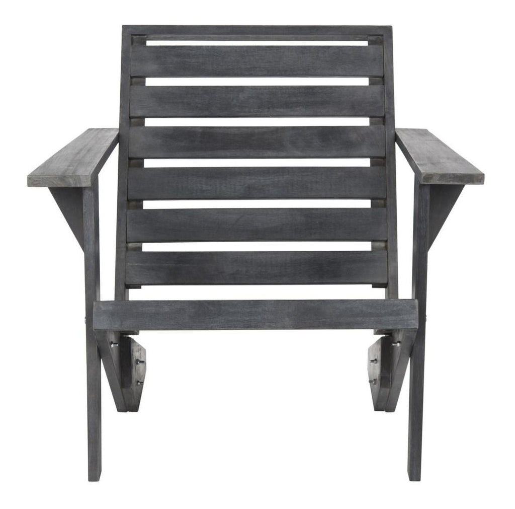 Safavieh Lanty Adirondack Chair Dark Slate Grey Acacia Wood PAT6746B 889048328938