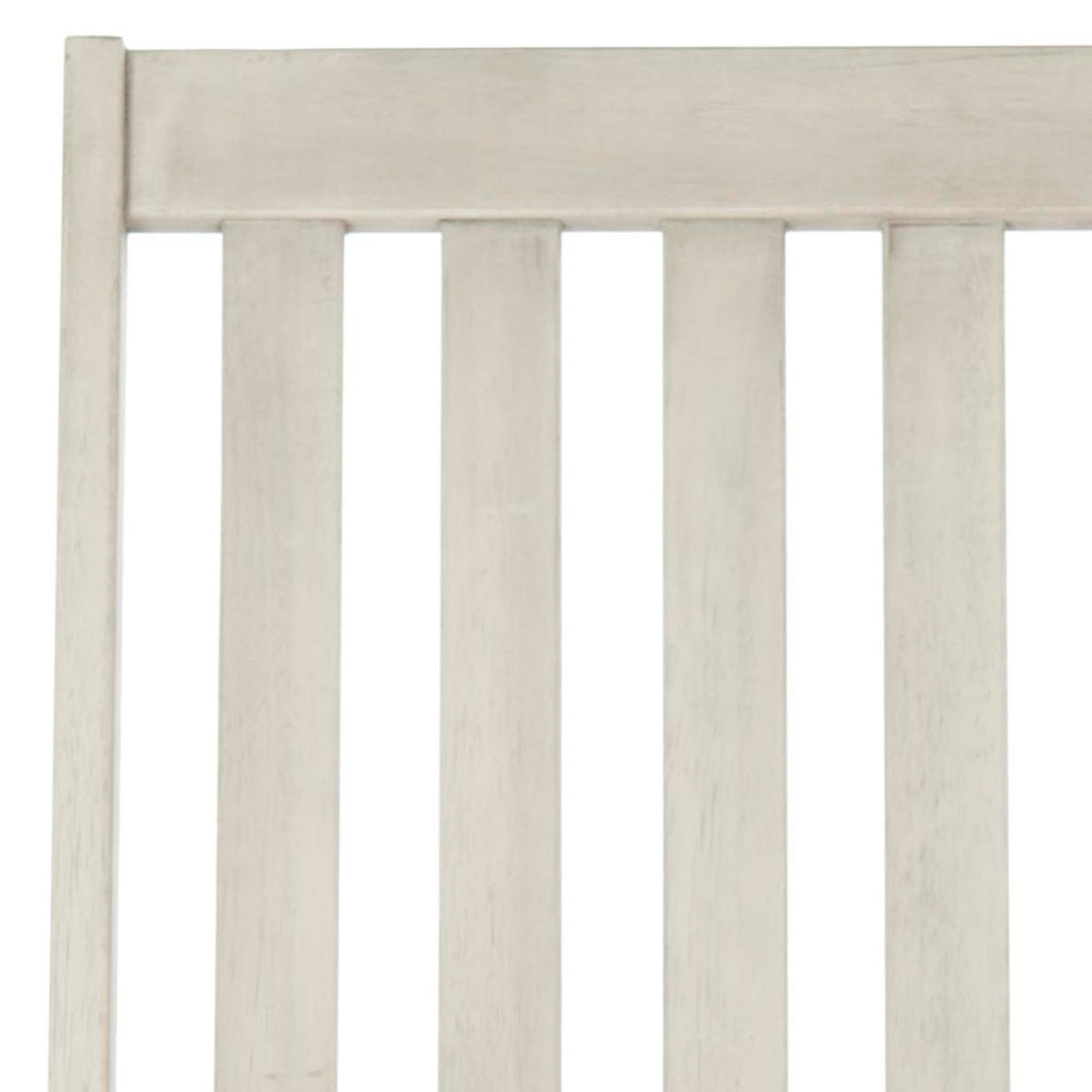 Safavieh Clayton Rocking Chair White Wash Silver Acacia Wood Galvanized Steel PAT7003C 683726406334