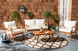 Safavieh Deacon 4 Piece Living Set In Beige Natural PAT7050A