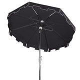 Safavieh Zimmerman 9 Ft Market Umbrella in Black and White PAT8000M 889048710252