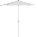 "Safavieh Ortega Umbrella UV Resistant 103""W Auto Tilt Crank Natural Brown Metal Fsc-Certified Hardwood Polyester Aluminum Steel PAT8002B 889048036383"