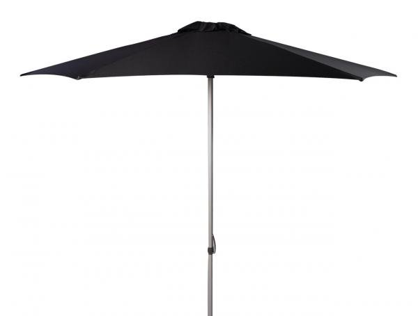 Safavieh Hurst Umbrella 9' Push Up Black Brown Metal Fsc-Certified Hardwood Polyester Aluminum PAT8002D 889048314610