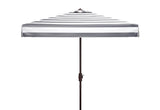 Safavieh Elsa 7.5' Square Umbrella in Black and White PAT8403A 889048711013