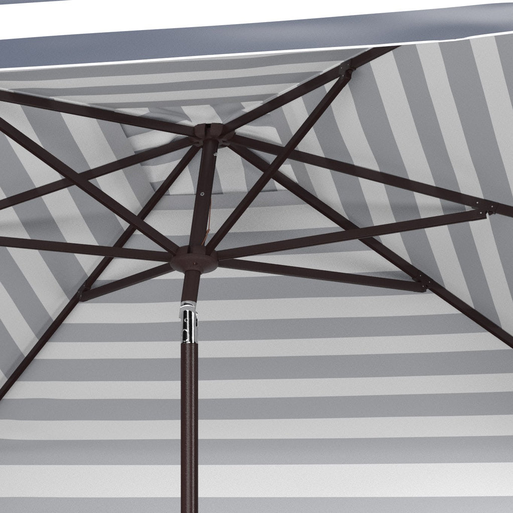 Safavieh Elsa 7.5' Square Umbrella in Navy and White PAT8403B 889048711020