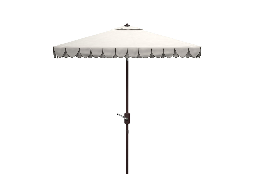 Safavieh Elegant 7.5' Square Umbrella in White and Black PAT8406E 889048711082