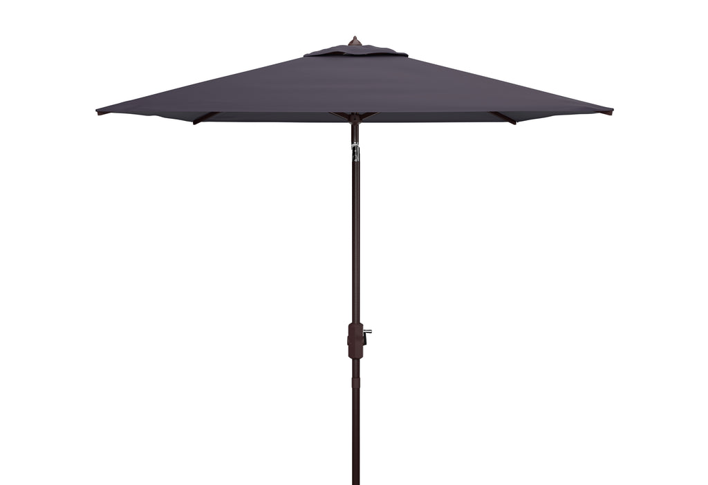 Safavieh Athens 7.5'Square Umbrella in Navy and White PAT8407A 889048711099