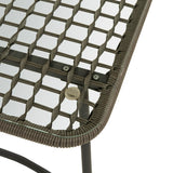 Safavieh Benjin 4 Piece Living Set Grey White Rattan PE Rattan 100% Polyester Foam Steel PAT9003A