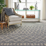 "Moroccan Shag MRS02 Power Loomed 100% Polypropylene Silver 9'2"" x 12'6"" Rectangle Rug"