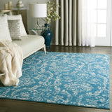 Jubilant JUB09 Power Loomed 100% Polypropylene Blue 4' x 6' Rectangle Rug
