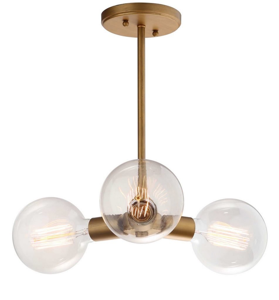 "Safavieh Harkin Pendant Adjustable 3 Light 18"" Gold Metal PND4011A 889048325333"