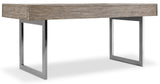 Hooker Furniture Curata Modern-Contemporary Leg Desk in Rubberwood Solids with White Oak Veneers and Metal 1600-10459-MWD