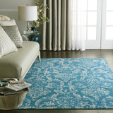 Jubilant JUB09 Power Loomed 100% Polypropylene Blue 6' x 9' Rectangle Rug