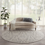 Jubilant JUB09 Power-loomed 100% Polypropylene Grey 8' x round Round Rug