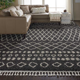 "Moroccan Shag MRS02 Power Loomed 100% Polypropylene Charcoal 9'3"" x 12'9"" Rectangle Rug"